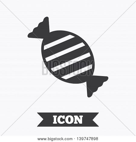 Candy icon. Sweet food sign. Graphic design element. Flat candy symbol on white background. Vector