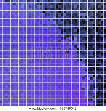 abstract vector square pixel mosaic background - purple