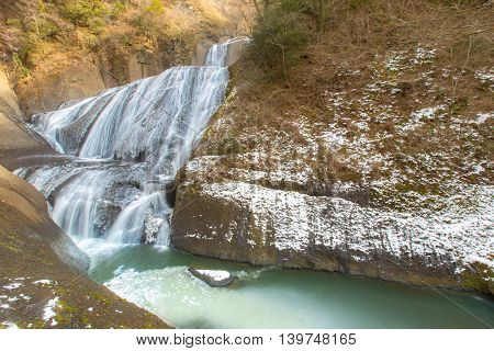 Fukuroda Falls Waterfall in Ibaraki Japan Winter