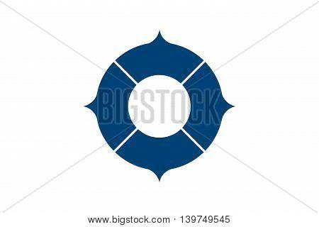 Japan Osaka prefecture Toyonaka city flag illustration