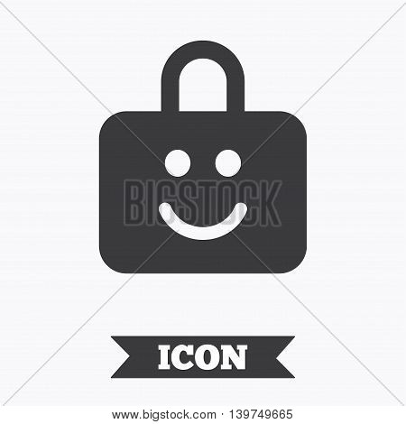 Child lock icon. Locker with smile symbol. Child protection. Graphic design element. Flat child lock symbol on white background. Vector