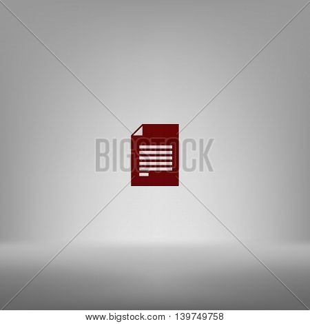 Flat Paper Cut Style Icon Of Text Searching