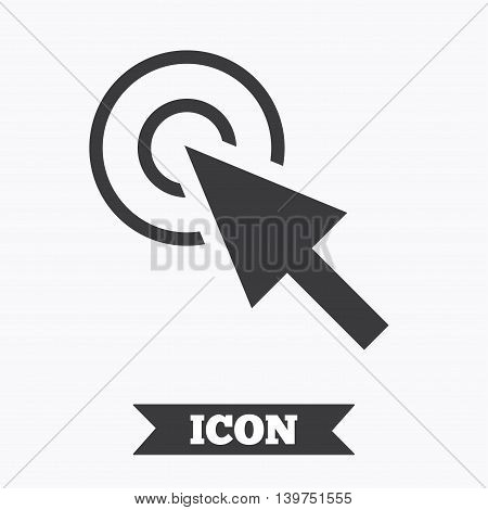 Mouse cursor sign icon. Pointer symbol. Graphic design element. Flat cursor symbol on white background. Vector