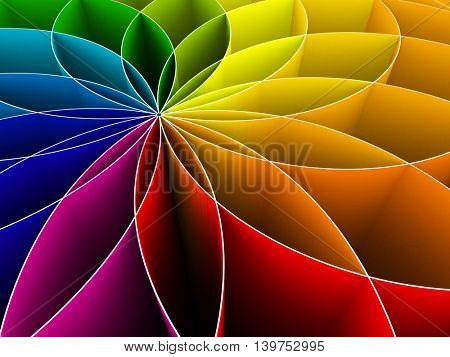 3d colorful background - 3d rendering