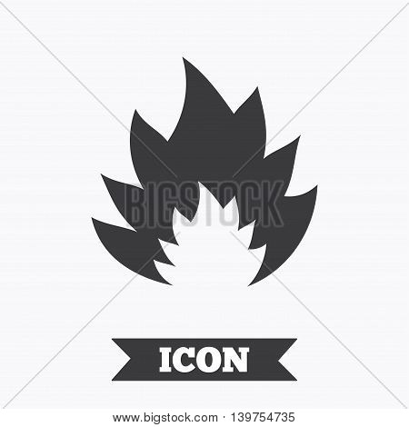 Fire flame sign icon. Heat symbol. Stop fire. Escape from fire. Graphic design element. Flat fire symbol on white background. Vector