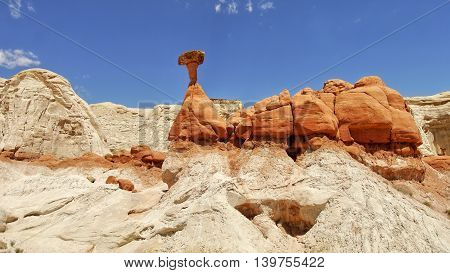 Rock sandstone colors formation. Grand Staircase - Escalante National Monument. USA
