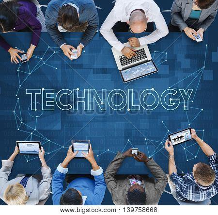 Technology Connection Communication Internet Information Concept