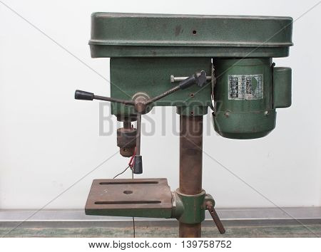 The image of drilling machine metal, drill, industrial, fabrication, steel,