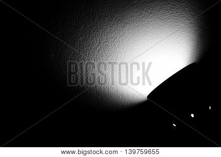 abstract of shade of light from the electric lamp