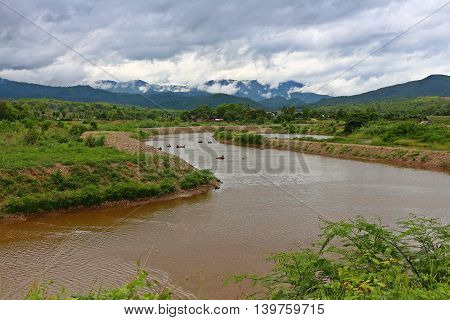 River and mountains perfct for tubing activity of tourist
