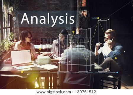 Bar Graph Statistics Analysis Business Concept