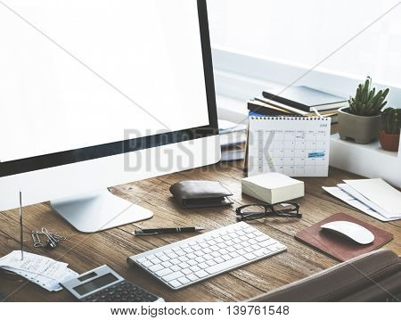 Workspace Business Computer Technology Concept