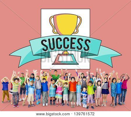Success Goals Achievement Completion Aim Excellence Concept