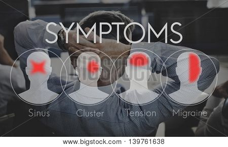 Symptoms Illness Sickness Healthcare Headache Concept