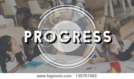 Progress Improvement Advance Strategy Business Concept
