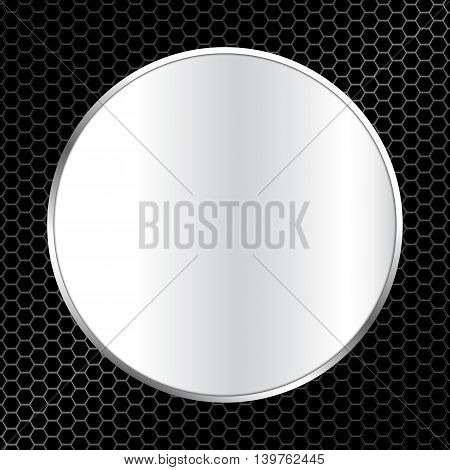 Abstract Metal Texture Background With Frame Vector Illustration