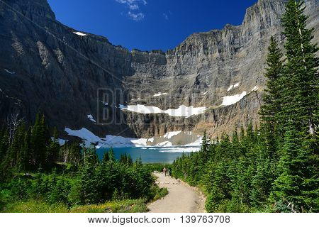 iceberg lake Glacier national park montana usa