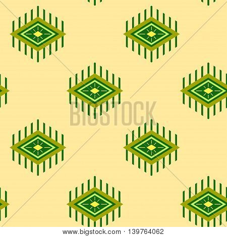 rhombus with beams, seamless pattern background, vector illustration