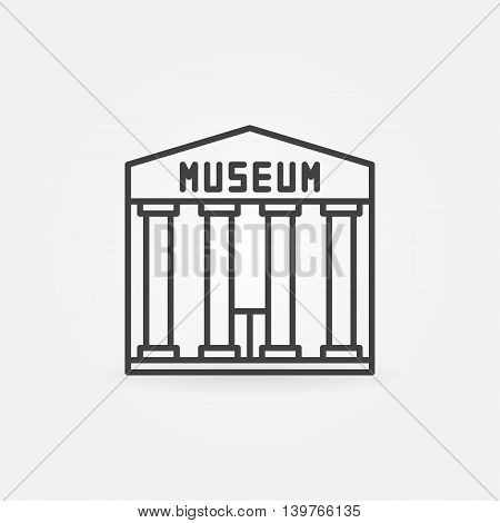 Museum building icon - vector simple symbol or sign in thin line style