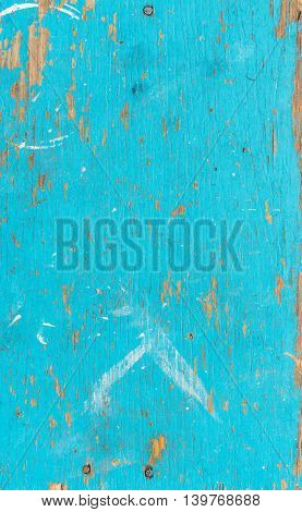 Wooden surface of blue color, texture or background
