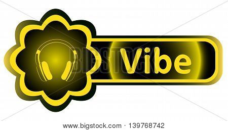 Double icon with a yellow gradient vibe earphones