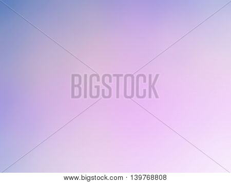 Abstract gradient purple white colored blurred background.