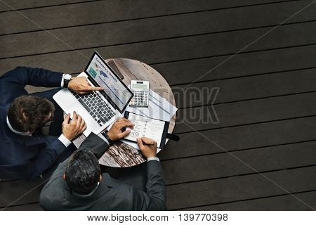 Businessmen Meeting Discussion Connection Concept