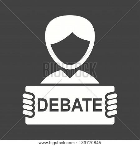 Debate, republican, conference icon vector image. Can also be used for elections. Suitable for use on web apps, mobile apps and print media.
