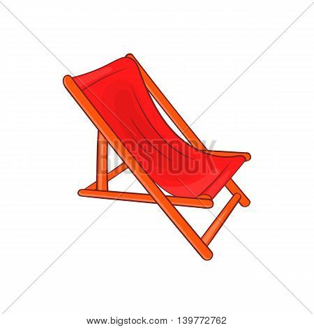 Lounger icon in cartoon style isolated on white background. Relax symbol