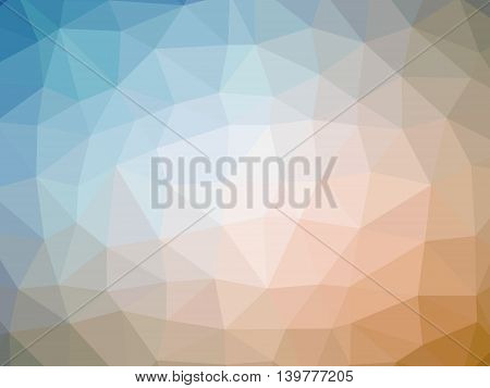 Abstract orange blue gradient polygon shaped background.