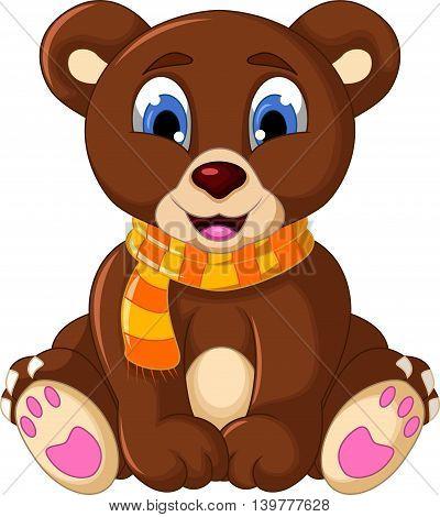 cute teddy bear cartoon for you design
