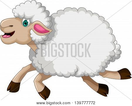 funny sheep cartoon running for you design