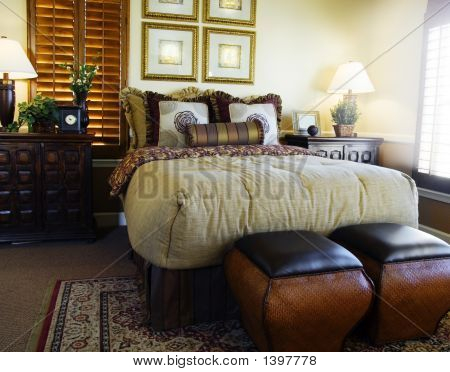 Plantation Style Bedroom Design Stock Photo Stock Images