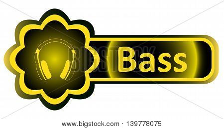 Double icon with a yellow gradient bass earphones