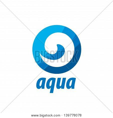 abstract logo template for water. Vector illustration