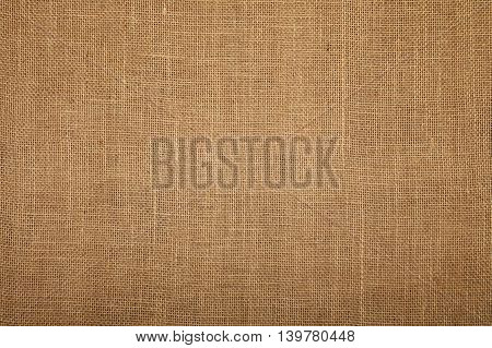 Natural brown burlap jute sackcloth bagging canvas texture pattern background