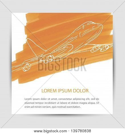 Plane vector icon concept aeroplane air aircraft