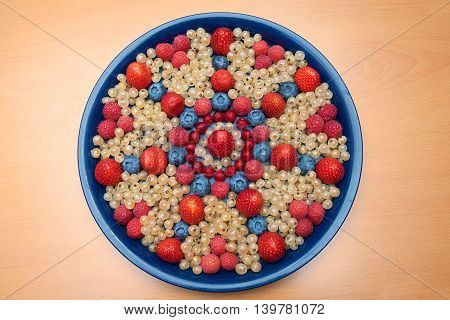 Plate With Various Berries