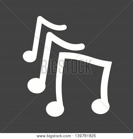 Music, play, sound icon vector image. Can also be used for celebrations. Suitable for use on web apps, mobile apps and print media.