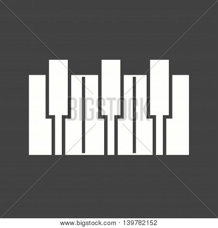 Piano, keys, music icon vector image.Can also be used for celebrations. Suitable for mobile apps, web apps and print media.