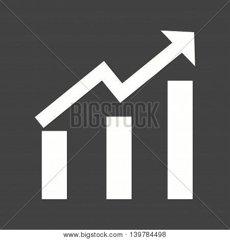 Rise, graph, chart icon vector image. Can also be used for finances trade. Suitable for use on web apps, mobile apps and print media.