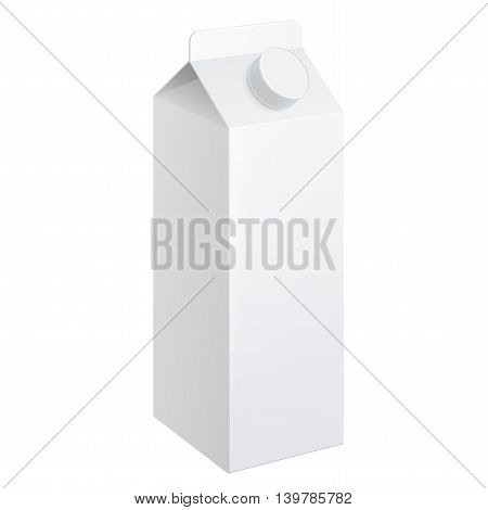 Realistic Carton Of Milk.
