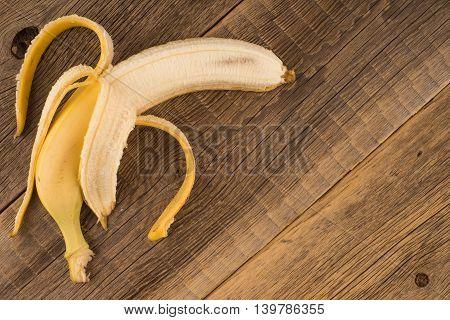 Fresh bananas on wooden background.Fresh bananas on wooden background