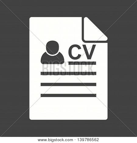 Resume, work, job icon vector image. Can also be used for employment. Suitable for use on web apps, mobile apps and print media.