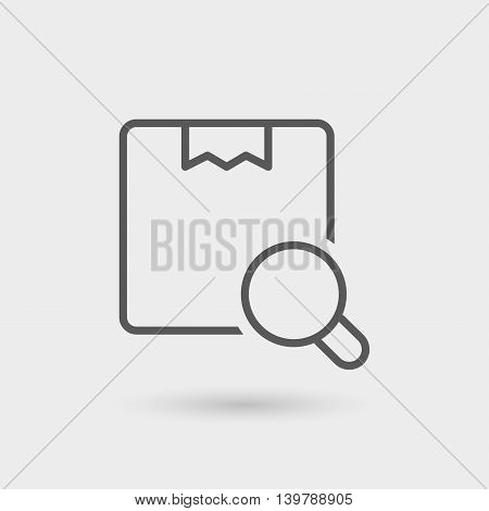 search order thin line icon isolated with shadow