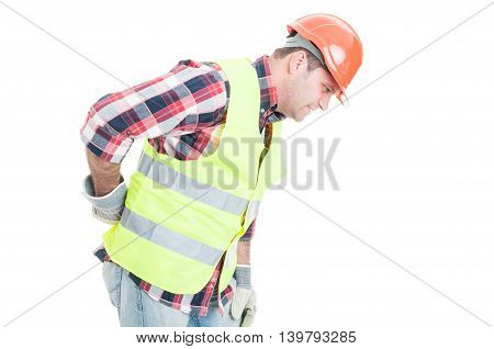 Young Constructor Suffering Form Back Pain