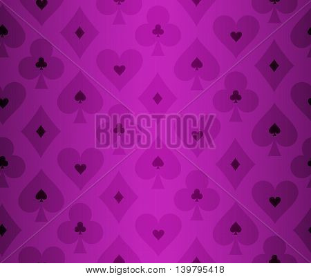 Simple purple poker background with transparent effect pattern