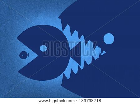 The largest and most powerful fish eats the small