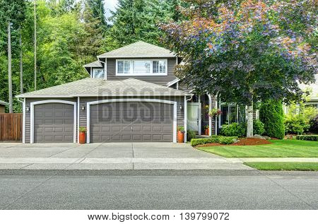 American House Exterior With Curb Appeal