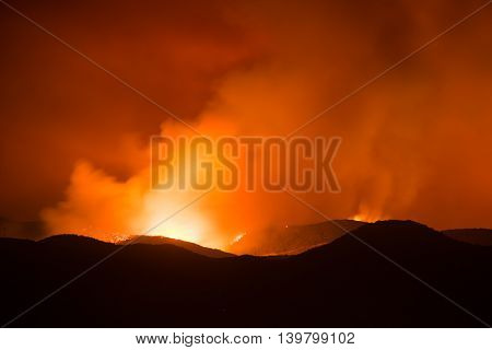 Hillside On Fire
